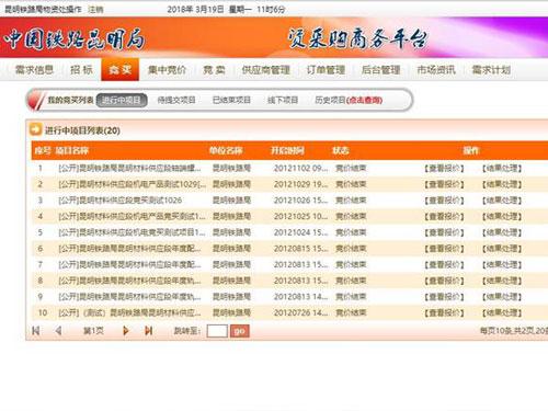 铁路信息化-铁路物资招商服务平台